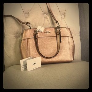 Rose Gold Coach purse with convertible strap